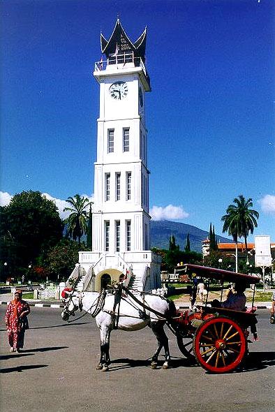 Wieża z zegarem z 1820 r w Bukittinggi