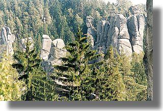 Adrszpaskie Skały, panorama